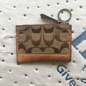 Coach cardholder and key chain
